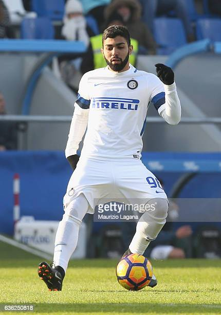 Gabriel Barbosa of Inter during the Serie A match between US Sassuolo and FC Internazionale at Mapei Stadium Citta' del Tricolore on December 18 2016...
