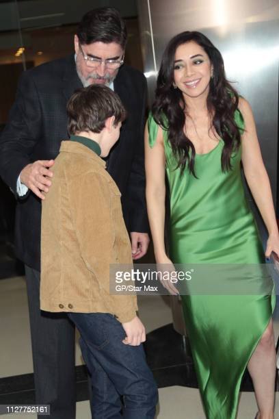 Gabriel Bateman Alfred Molina and Aimee Garcia are seen on February 26 2019 in Los Angeles