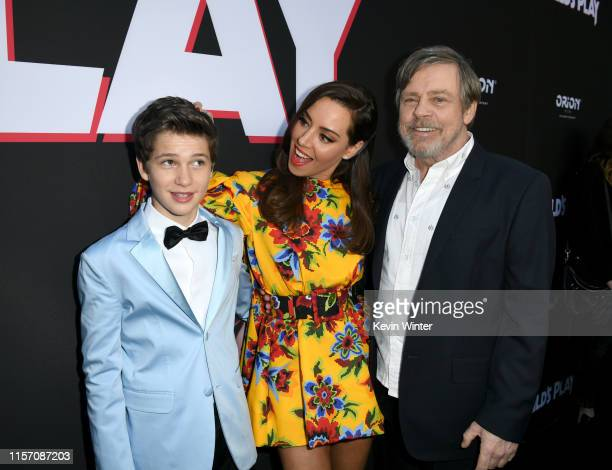 Gabriel Bateman Aubrey Plaza and Mark Hamill arrive at the premiere of Orion Pictures and United Artists Releasing Child's Play at ArcLight Hollywood...