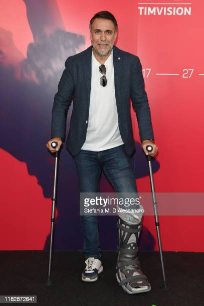 Gabriel Batistuta attends the photocall of the movie El Numero Nueve during the Alice nella Città Festival on October 23 2019 in Rome Italy