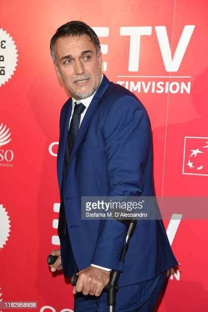 """Gabriel Batistuta attends the red carpet of the movie """"El Numero Nueve"""" during the Alice nella Città Festival on October 23, 2019 in Rome, Italy."""