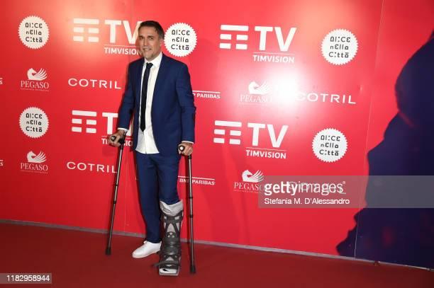Gabriel Batistuta attends the red carpet of the movie El Numero Nueve during the Alice nella Città Festival on October 23 2019 in Rome Italy