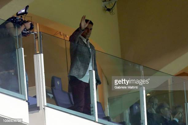 Gabriel Batistuta former player of ACF Fiorentina and AS Roma during the Serie A match between ACF Fiorentina and AS Roma at Stadio Artemio Franchi...