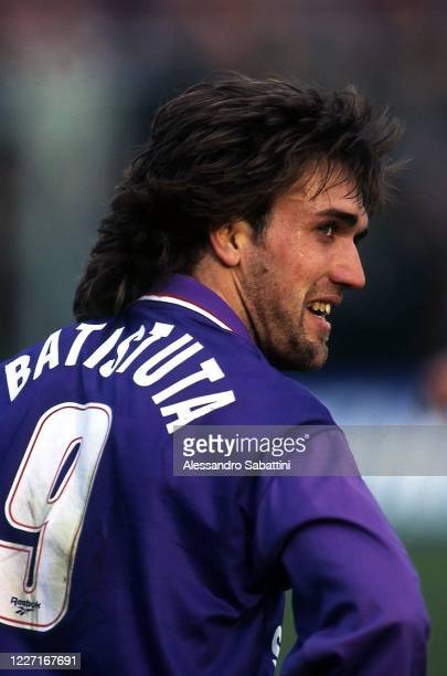 Gabriel Batistuta of ACF Fiorentina reacts during the Serie A 1995-96, Italy.
