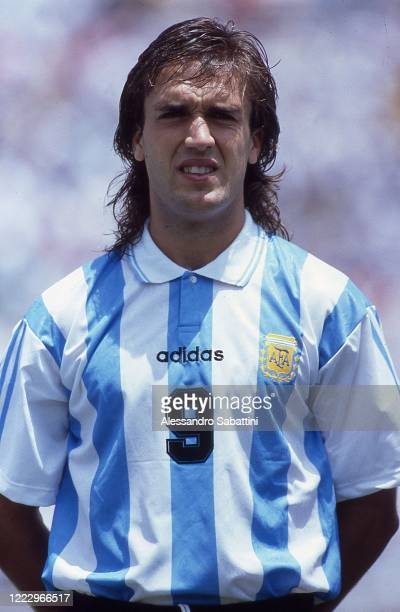 Gabriel Batistuta of Argentina looks on during the FIFA World Cup 1994 United States