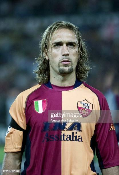 Gabriel Batistuta of AS Roma poses for photo during the Serie A 2001-02, Italy.