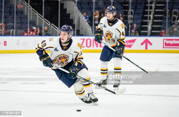 Gabriel Belley-Pelletier of the Shawinigan Cataractes skates during his QMJHL hockey game at the Videotron Center on October 26, 2019 in Quebec City,...