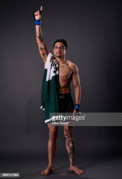 Gabriel Benitez of Mexico poses for a post fight portrait backstage during the UFC Fight Night event inside Save Mart Center on December 9 2017 in...