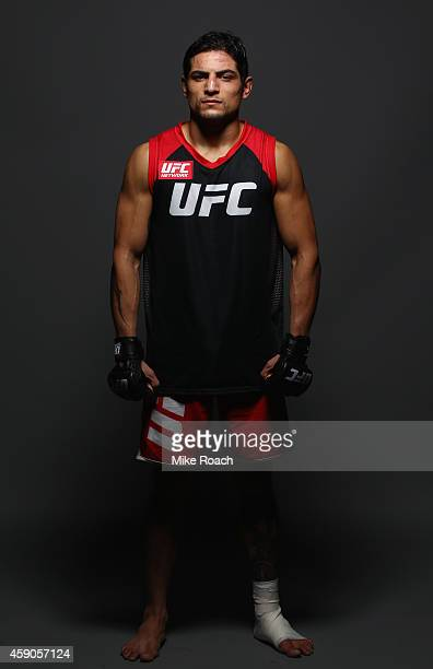 Gabriel Benitez poses for a postfight portrait during the UFC 180 event at Arena Ciudad de Mexico on November 15 2014 in Mexico City Mexico