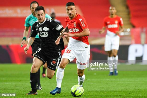 Gabriel Boschilia of Monaco during the Ligue 1 match between AS Monaco and Amiens SC at Stade Louis II on April 28 2018 in Monaco