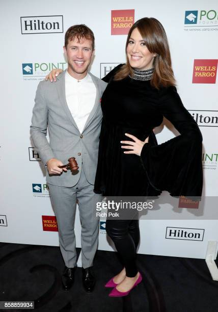 Gabriel Butu and host Michelle Collins at Point Honors Los Angeles 2017 benefiting Point Foundation at The Beverly Hilton Hotel on October 7 2017 in...