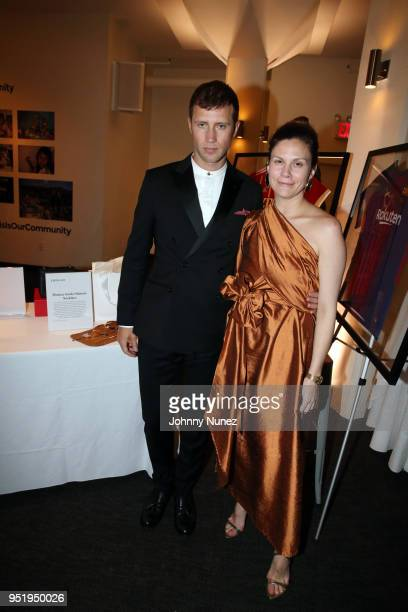 Gabriel Butu and Monica Sordo attend the 2018 Glasswing International Gala at Tribeca Rooftop on April 26 2018 in New York City