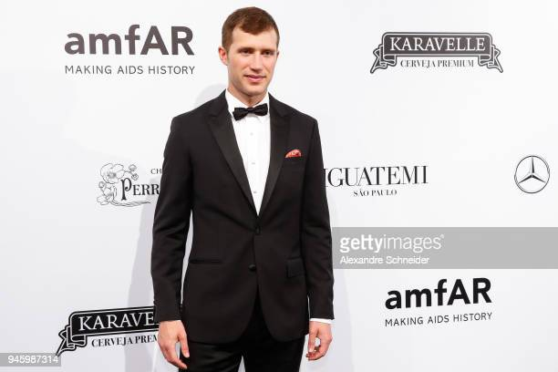 Gabriel Butu attends during the 2018 amfAR Gala Sao Paulo at the home of Dinho Diniz on April 13 2018 in Sao Paulo Brazil