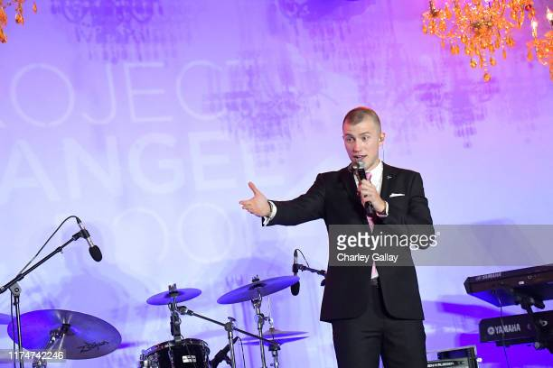 Gabriel Butu speaks onstage during Project Angel Food's 29th Annual Angel Awards on September 14 2019 in Hollywood California