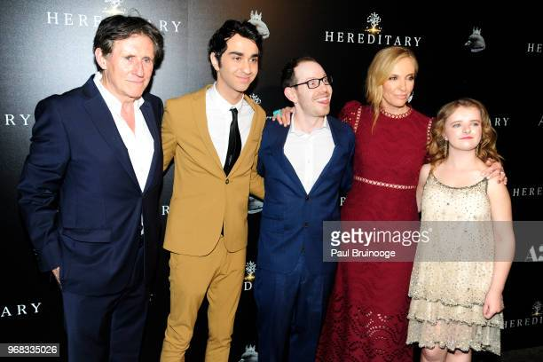 Gabriel Byrne Alex Wolff Ari Aster Toni Collette and Milly Shapiro attend A24 Hosts A Screening Of 'Hereditary' at Metrograph on June 5 2018 in New...