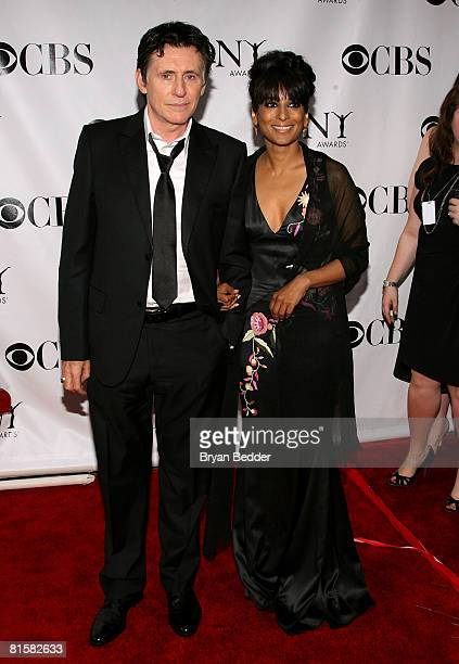 Gabriel Byrne and Ana George arrive at the 62nd Annual Tony Awards held at Radio City Music Hall on June 15 2008 in New York City