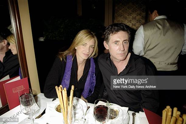 Gabriel Byrne and friend Arianne Brown share a table at the opening of Feinstein's at the Regency