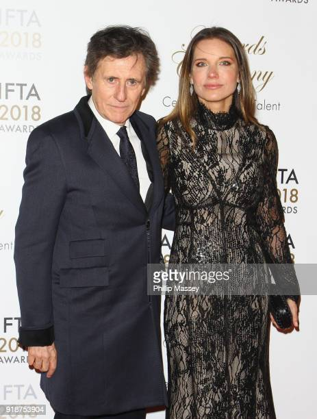 Gabriel Byrne and Hannah Beth King attend the 'IFTA Film & Drama Awards' at Mansion House on February 15, 2018 in Dublin, Ireland.