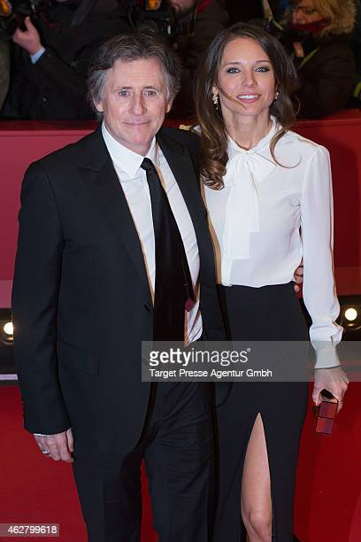 Gabriel Byrne and Hannah Beth King attend the 'Nobody Wants the Night' premiere during the 65th Berlinale International Film Festival at Berlinale...
