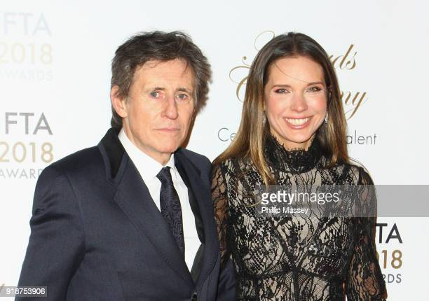 Gabriel Byrne and Hannah Beth King attends the 'IFTA Film & Drama Awards' at Mansion House on February 15, 2018 in Dublin, Ireland.