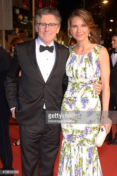 "Gabriel Byrne and Hannah Beth King leave the ""Louder Than Bombs"" Premiere during the 68th annual Cannes Film Festival on May 18, 2015 in Cannes,..."