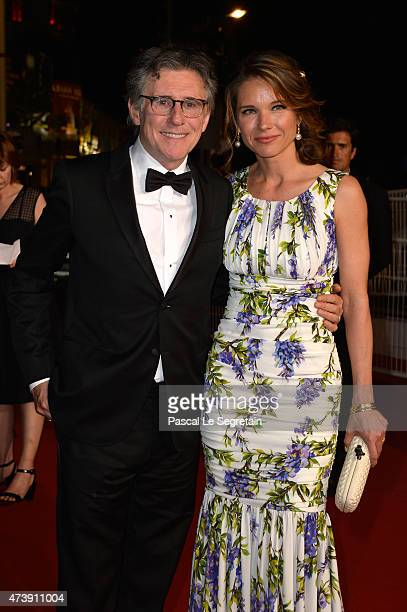 "Gabriel Byrne and Hannah Beth King leave the the Premiere of ""Louder Than Bombs"" during the 68th annual Cannes Film Festival on May 18, 2015 in..."