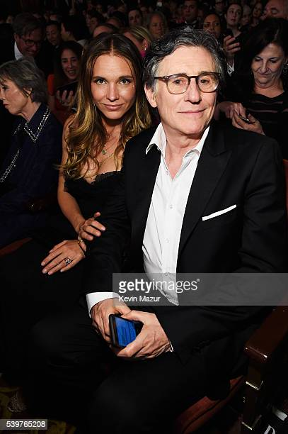 Gabriel Byrne and Hannah King attend the 70th Annual Tony Awards at The Beacon Theatre on June 12 2016 in New York City