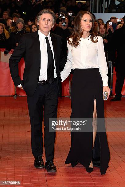 Gabriel Byrne and is wife Hannah Beth King attend the 'Nobody Wants the Night' premiere and Opening Ceremony of the 65th Berlinale International Film...