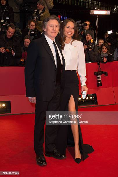 Gabriel Byrne and is wife Hannah Beth King attend the 'Nobody Wants the Night' Opening Night premiere during the 65th Berlinale International Film...