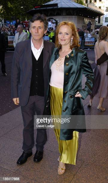Gabriel Byrne and Miranda Richardson during 'Wah Wah' London Premiere at Odeon West End in London Great Britain