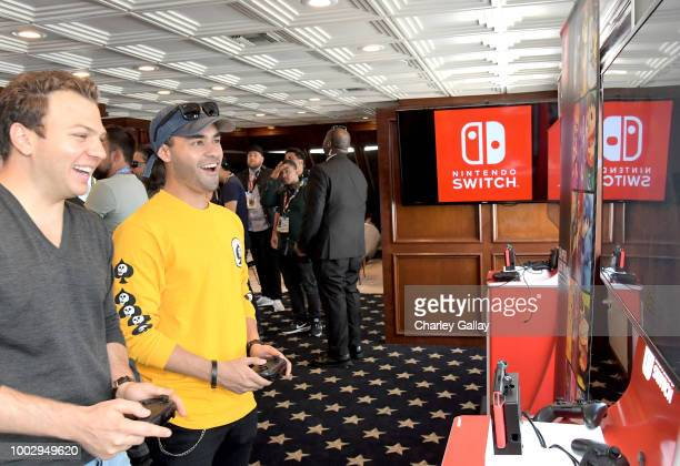 Gabriel Chavarria tests his skills on Super Smash Bros Ultimate for Nintendo Switch at the Variety Studio at ComicCon 2018 on July 20 2018 in San...