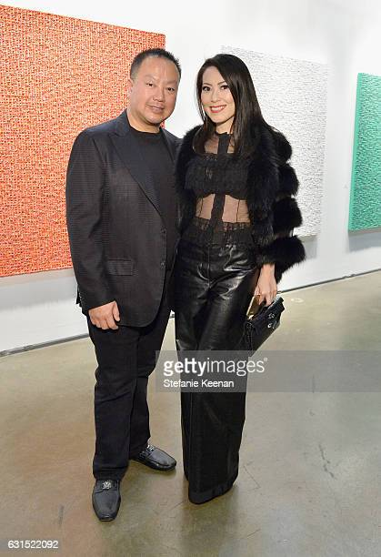 Gabriel Chiu and Christine Chiu attend the LA Art Show 2017 opening night premiere hosted by Emma Roberts benefiting St Jude Children's Research...