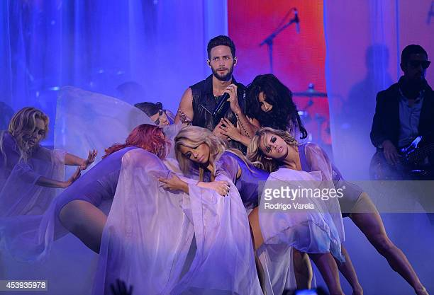 Gabriel Coronel performs at Premios Tu Mundo Awards at American Airlines Arena on August 21 2014 in Miami Florida