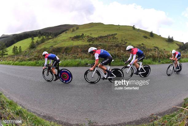 Gabriel Cullaigh of Great Britain / Mark Downey of Ireland / James Fouche of New Zealand / Tom Pidcock of Great Britain / Mark Teggart of Ireland /...