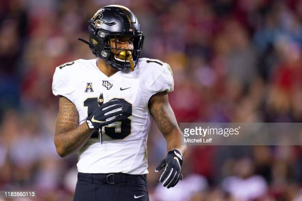 Gabriel Davis of the UCF Knights looks on against the Temple Owls at Lincoln Financial Field on October 26 2019 in Philadelphia Pennsylvania