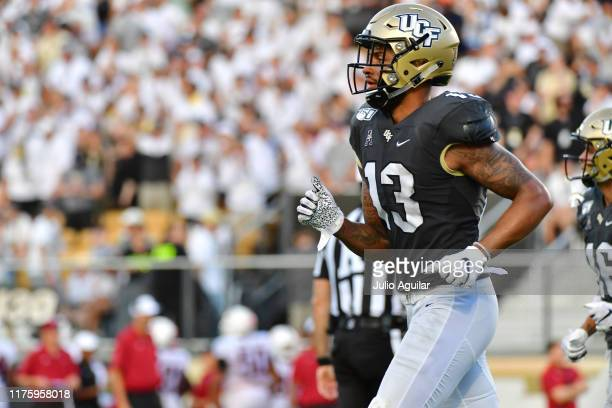 Gabriel Davis of the UCF Knights runs off the field during the second half of a game against the Stanford Cardinal at Spectrum Stadium on September...