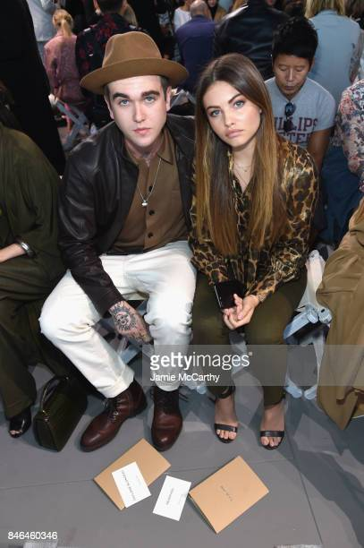 Gabriel Day Lewis and Thylane Blondeau attend the Michael Kors Collection Spring 2018 Runway Show at Spring Studios on September 13 2017 in New York...