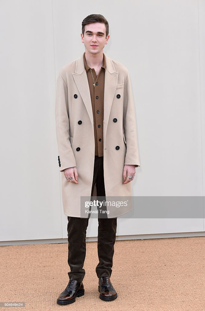 Gabriel Day-Lewis attends the Burberry show during The London Collections Men AW16 at Kensington Gardens on January 11, 2016 in London, England.