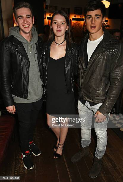 Gabriel DayLewis Lottie Hayes and Pietro Boselli attend COACH Men's Fall/Winter 2016 Party hosted by Stuart Vevers at The Lady Ottoline on January 9...
