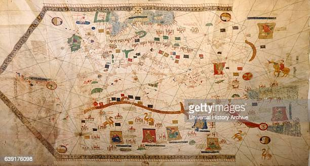Gabriel de Valseca's 'Portolan Map' 1439 It documents discoveries of the captains of the Portuguese Prince Henry the Navigator Its depiction of the...