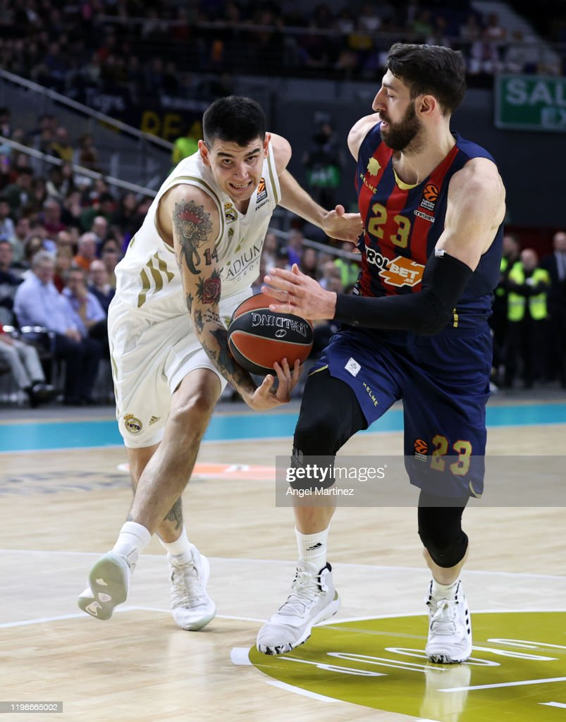 Gabriel Deck 14 Of Real Madrid Competes With Tornike Shengelia