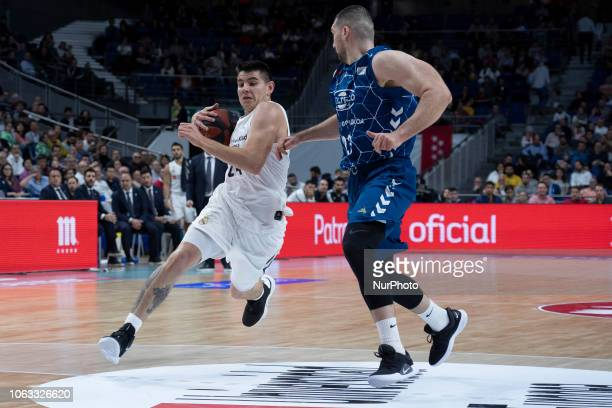 Gabriel Deck of Real Madrid during their Liga ACB Endesa basketball Real Madrid VS Gipuzkoa Basket match at the Sports palace of Madrid Spain 18th...