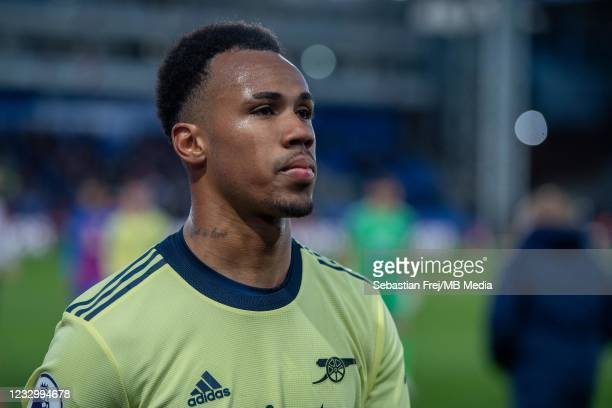 Gabriel dos Santos Magalhães of Arsenal during the Premier League match between Crystal Palace and Arsenal at Selhurst Park on May 19, 2021 in...