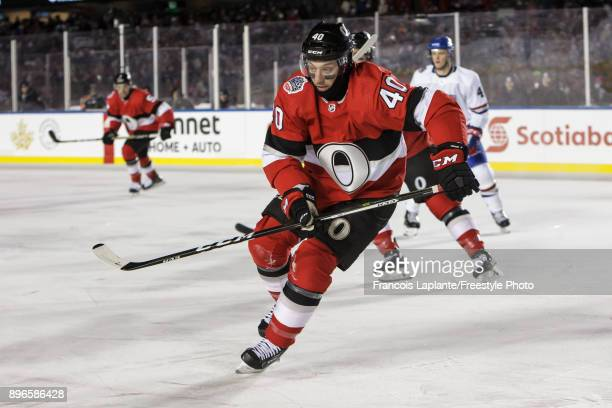 Gabriel Dumont of the Ottawa Senators skates against the Montreal Canadiens at the 2017 Scotiabank NHL 100 Classic at Lansdowne Park on December 16...
