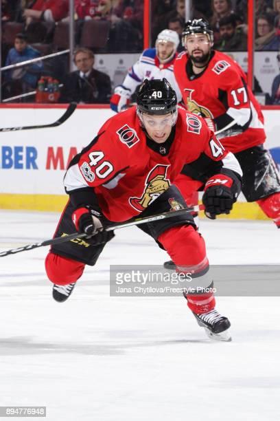 Gabriel Dumont of the Ottawa Senators skates against the New York Rangers at Canadian Tire Centre on December 4 2017 in Ottawa Ontario Canada