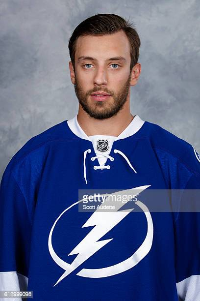 Gabriel Dumont of the Tampa Bay Lightning poses for his official headshot for the 20162017 season on September 22 2016 at Amalie Arena in Tampa...