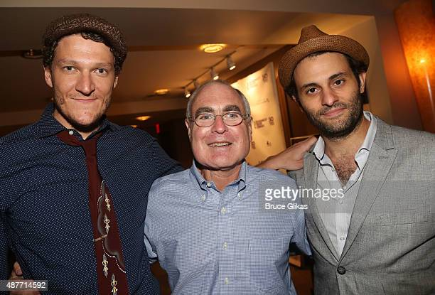 Gabriel Ebert Roundabout Artistic Director Todd Haimes and Arian Moayed pose at the Roundabout Theater Company's 50th Anniversary Season Party at The...