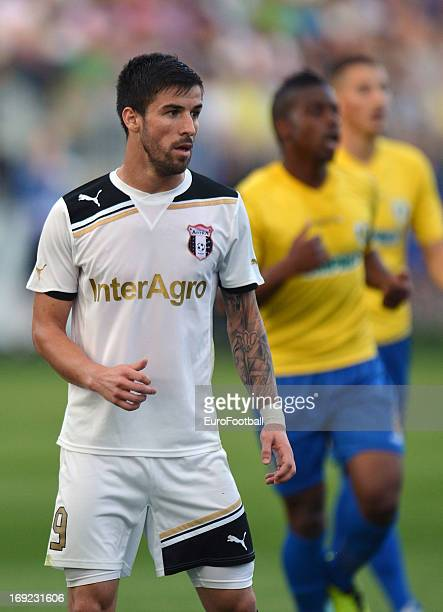 Gabriel Enache of FC Astra Ploiesti in action during the Romanian First Division match between FC Petrolul Ploiesti and FC Astra Ploiesti held on May...