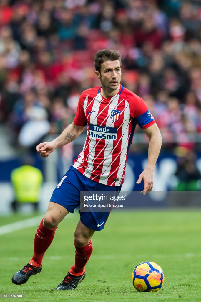 Gabriel Fernandez Arenas, Gabi, of Atletico de Madrid in action during the La Liga 2017-18 match between Atletico de Madrid and UD Las Palmas at Wanda Metropolitano on January 28 2018 in Madrid, Spain.
