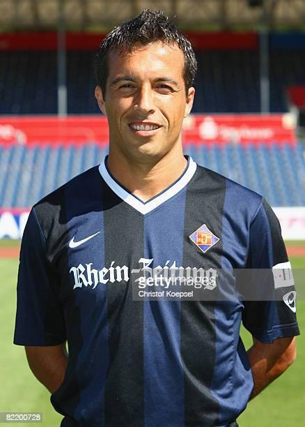 Gabriel Fernandez is seen during the TuS Koblenz team presentation at the Oberwerth Stadium on August 6 2008 in Koblenz Germany